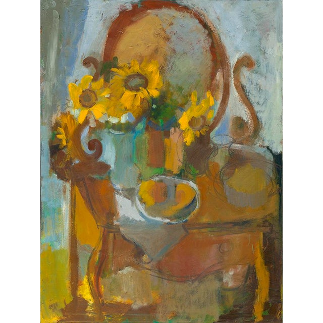 """Impressionist Amy Griffith Colley """"Sunflowers and Curio"""" Print For Sale - Image 3 of 3"""