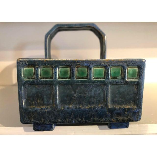 Contemporary Austrian Secessionist Ceramic Basket After a Josef Hoffmann Design For Sale - Image 3 of 9