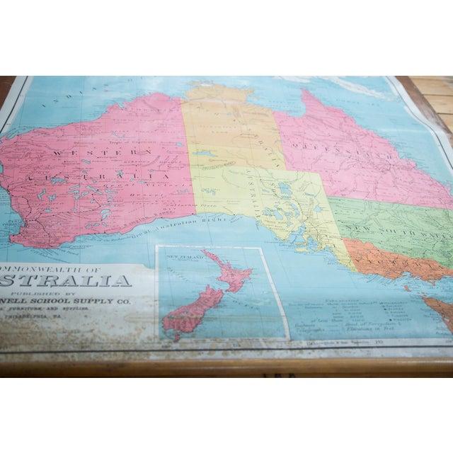 Antique Pull Down Map of Australia | Chairish