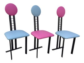 Image of Dark Pink Side Chairs