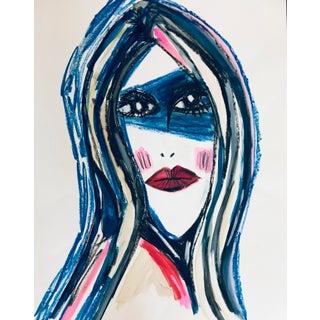 Pop Art Tony Marine Contemporary Portrait Painting For Sale
