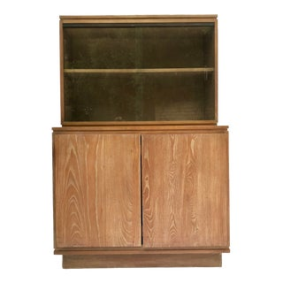 Vintage Art Deco Sliding Glass Cabinet For Sale