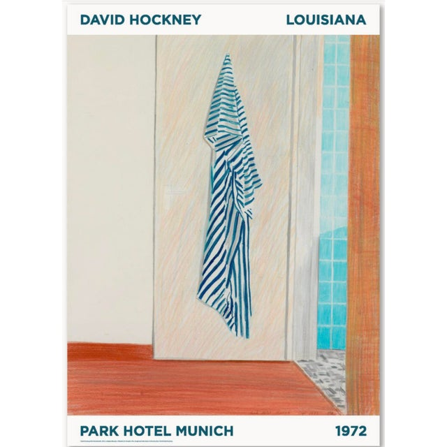 1970s 1972 David Hockney Park Hotel Munich Original Exhibition Poster For Sale - Image 5 of 6