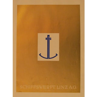1923 German Design Poster, Golden Anchor