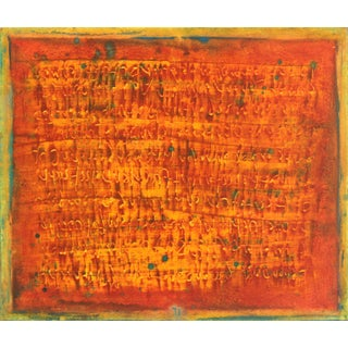 """Bernhard Zimmer """"Awh 194"""" Original Abstract Painting For Sale"""