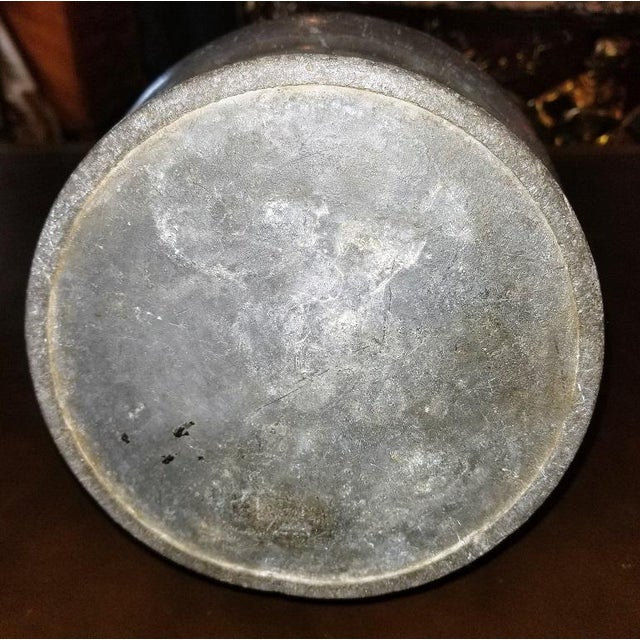 18c American Colonial Pewter Tankard Fbt Davenport For Sale - Image 4 of 9