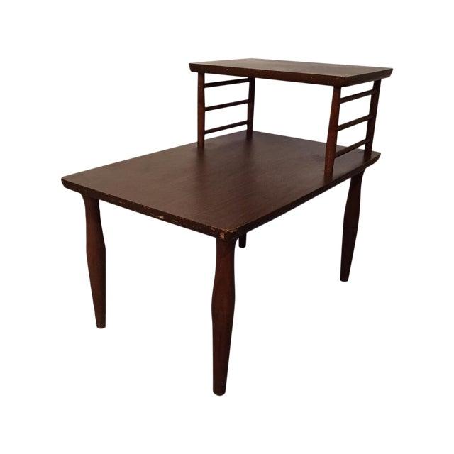 Danish Modern Vintage Viko Baumritter Step Table - Image 1 of 7