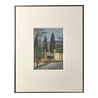 "Original Amanda Harrison 2011 ""East La"" Californian Artist Pastel on Paper For Sale"