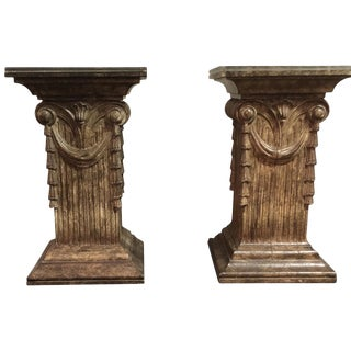 1960s Vintage Pedestal Dining Table Bases- A Pair For Sale
