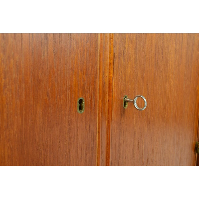 Danish Modern Low Teak Corner Cabinet - Image 8 of 8