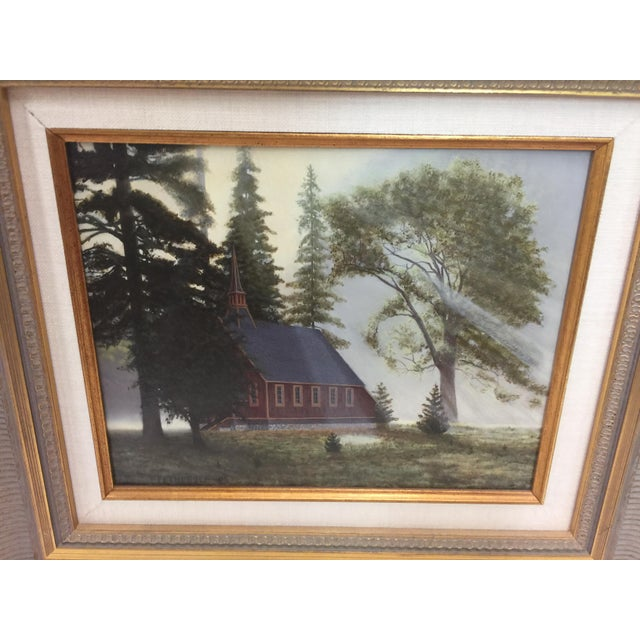 Fetherolf Oil Painting Little Red Church Yosemite For Sale In San Francisco - Image 6 of 7