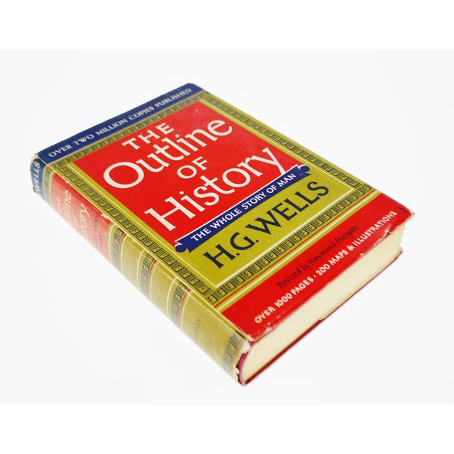 Vintage 1956 The Outline of History H.G. Wells Vol. II Illustrated Book Hardcover with Original Dust Jacket Condition...