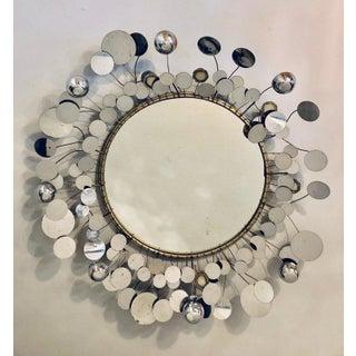 Mid-Century Modern Bamboo Form Frame Mirror Having Floating Orbit Spheres Preview