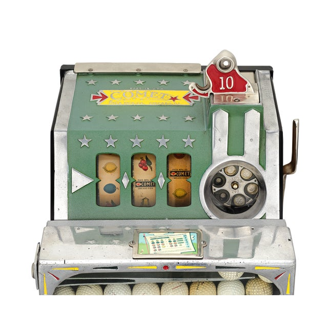 Created by Pace Manufacturing Company in the mid-1930s, the Comet Golf Ball Vendor slot machine was created for prominent...
