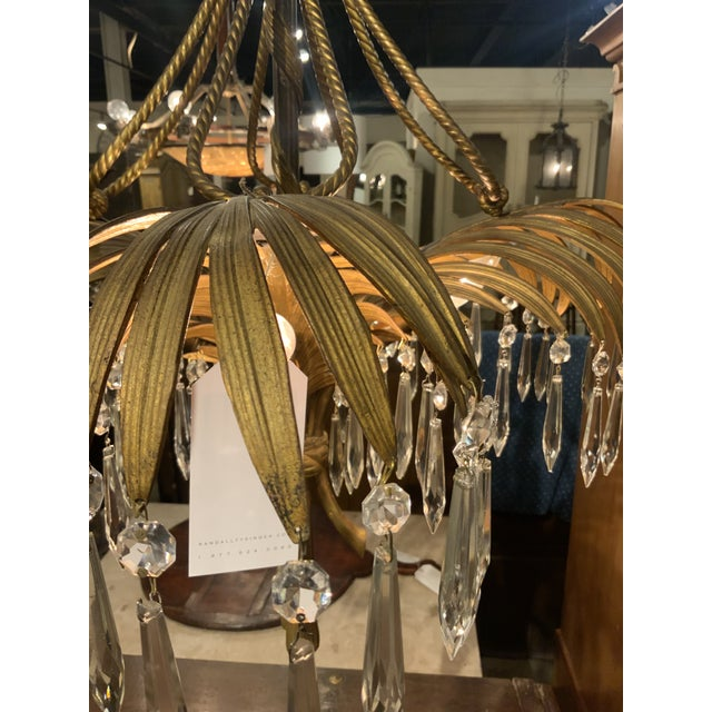 French Bronze and Crystal Chandelier For Sale In Greensboro - Image 6 of 8