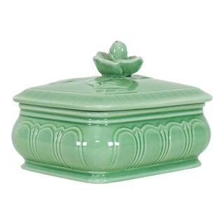 Vintage Celadon Trinket Box For Sale
