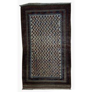 1880s Antique Afghan Baluch Rug - 3′9″ × 5′7″