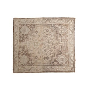 "Vintage Distressed Shiraz Square Carpet - 5'6"" X 6'1"""