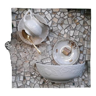 Tea Set Mosaic Wall Fountain For Sale