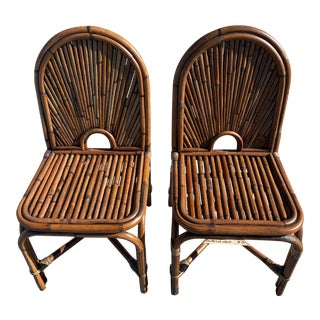 Gabriella Crespi Style Chairs- a Pair For Sale