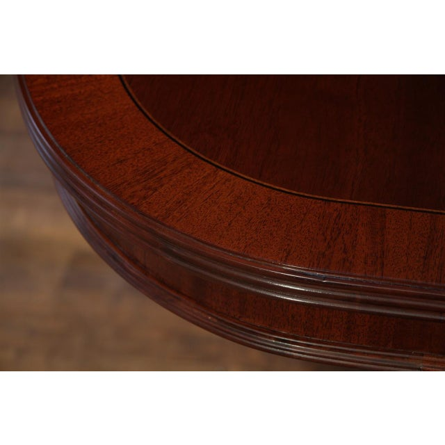 Formal Double Pedestal Mahogany Dining Table - Image 7 of 7