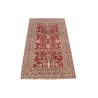 Classic Afghani Hand-Knotted Wool Rug 3′1″ × 5′1″