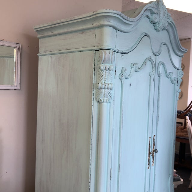 French Provencal Large Scale Armoire For Sale - Image 10 of 13
