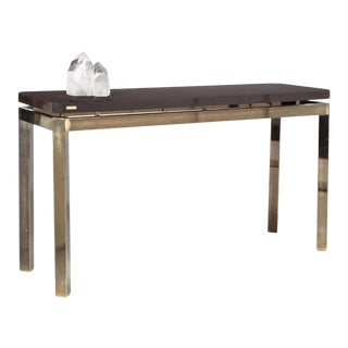French 1970s Postwar Design Console Table For Sale