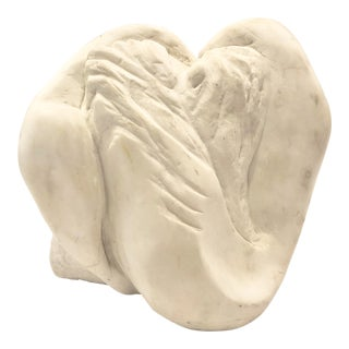 Vintage White Marble Abstract Sculpture For Sale