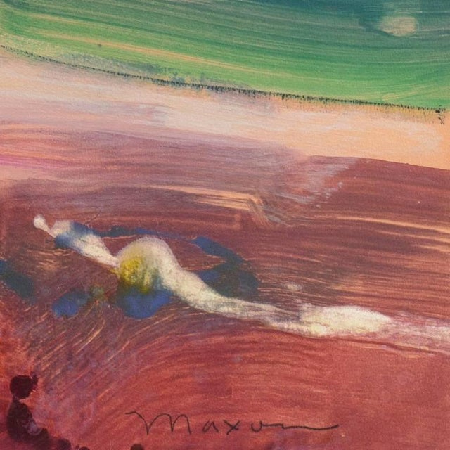 John Maxon Evening Landscape Circa 1985 For Sale - Image 6 of 9