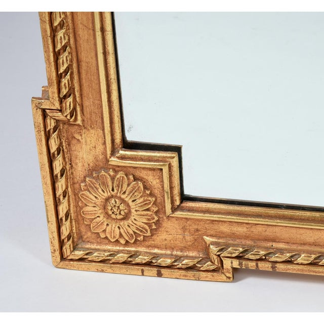 Giltwood Early 20th Century Matching Pair of Giltwood Hanging Beveled Mirrors For Sale - Image 7 of 11
