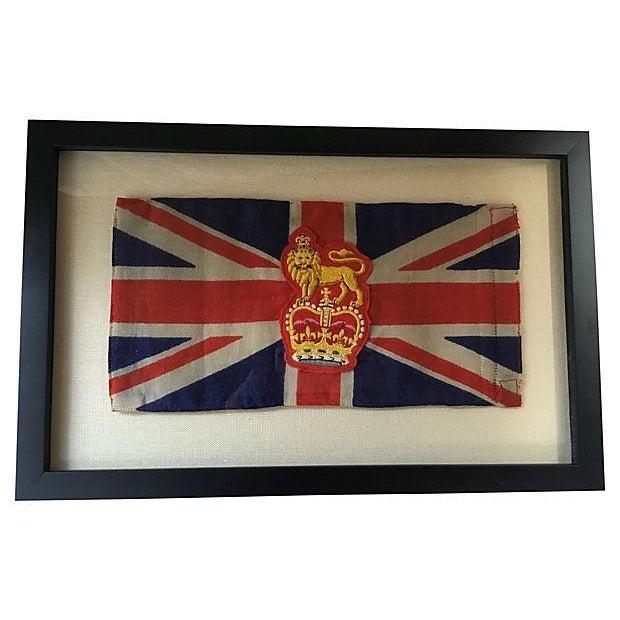 Framed King George Coronation Flag - Image 4 of 4