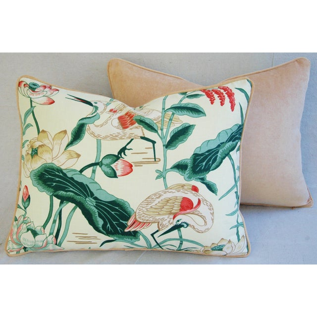 Egrets & Lotus Blossom Pillows - a Pair - Image 9 of 11
