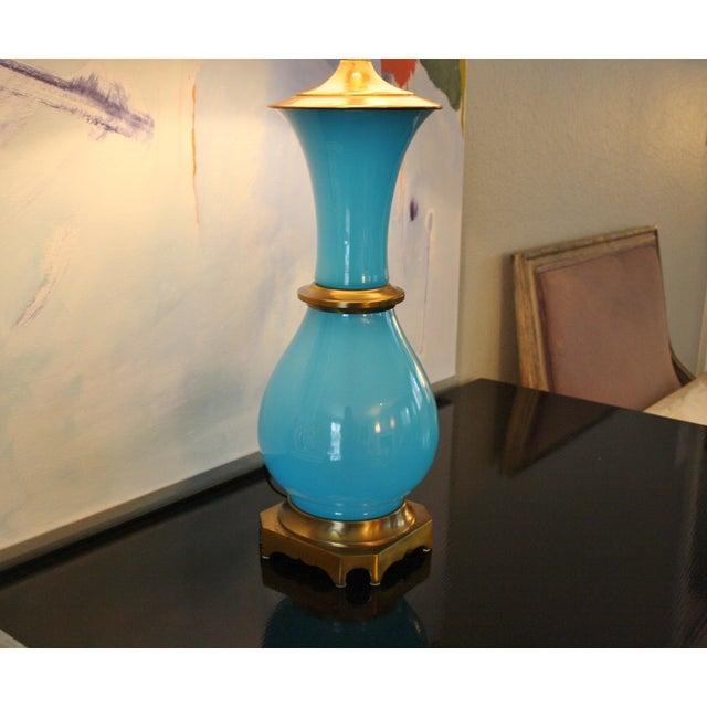 Vintage Murano Opaline Blue Lamp - Image 5 of 11