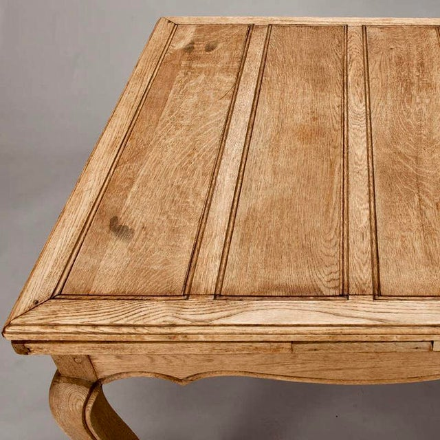 French Bleached Oak Table with Self Storing Leaves - Image 4 of 9
