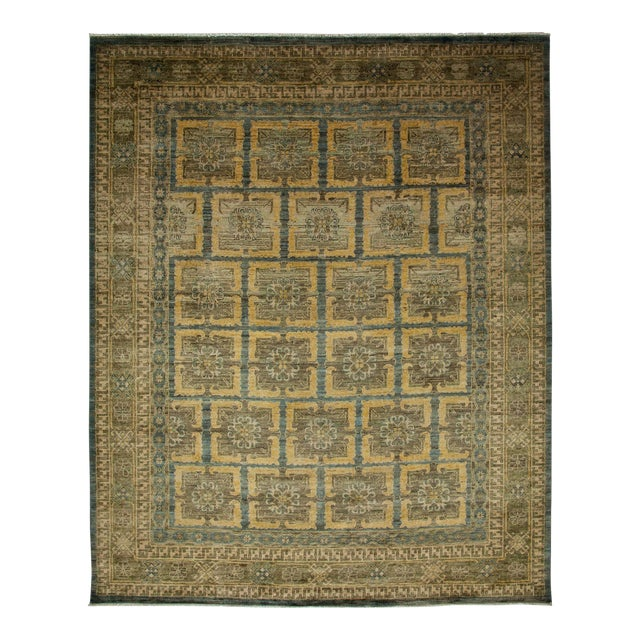 """Khotan Hand Knotted Area Rug - 8'1"""" X 9'9"""" - Image 1 of 3"""