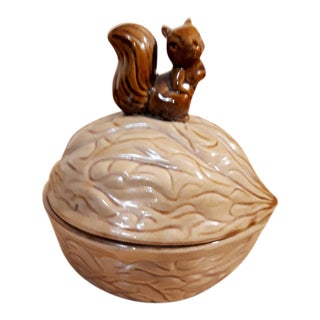 Lidded Candy or Nut Bowl With Squirrel for Knob For Sale