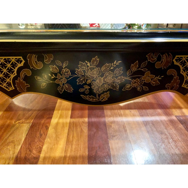 Drexel 1980s Chinoiserie Drexel Heritage Coffee Table For Sale - Image 4 of 11