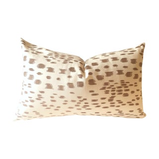Brunschwig & Fils Brown Les Touches Pillow Cover