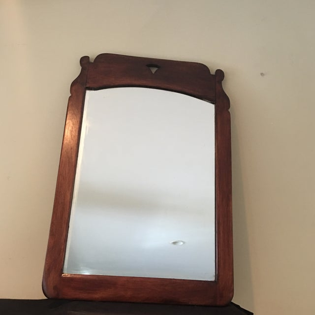 Great vintage c. 1940 Cushman colonial mirror. This Cushman piec still has the leather tag on the back. Handmade in...