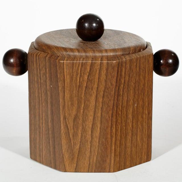 1960's Wood-Grain Ice Bucket - Image 2 of 4