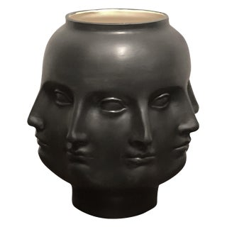 Hollywood Regency Dora Maar Style Perpetual Face Vase For Sale