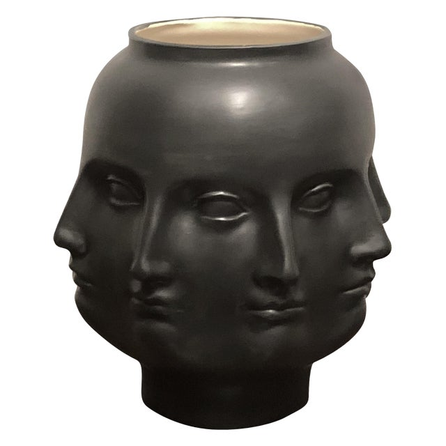 Hollywood Regency Dora Maar Style Perpetual Face Vase For Sale