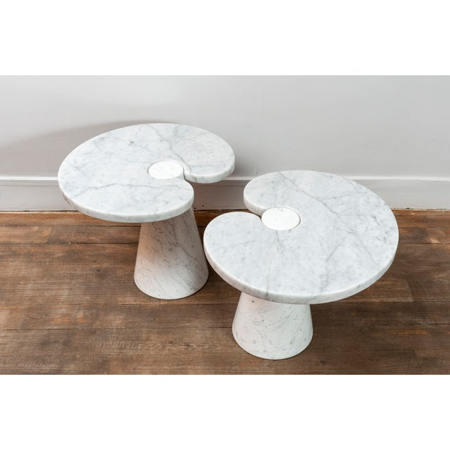 """Pair of Marble """"Eros"""" Tables by Mangiarotti For Sale - Image 6 of 11"""
