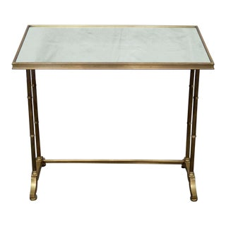 Hollywood Regency Faux Bamboo Table For Sale