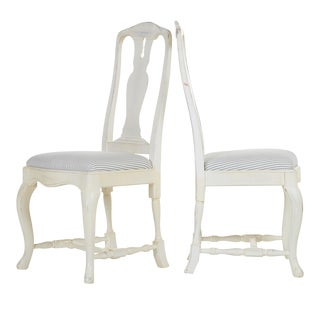 1950s Vintage Swedish Rococo Chairs- A Pair For Sale