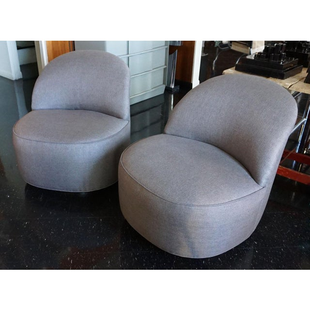 1970s J. Robert Scott Swivel Chairs - Pair For Sale - Image 5 of 5