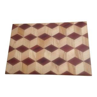 """Rustic Original """"3 D"""" Cutting Board For Sale"""