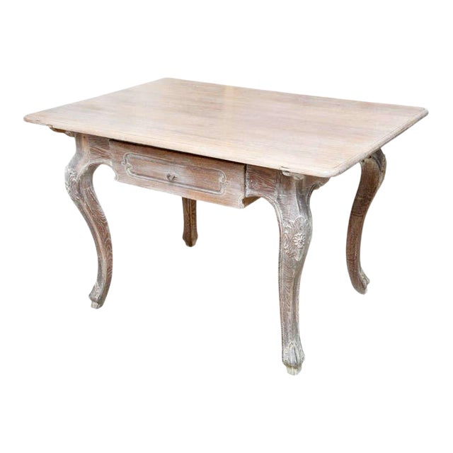 French Cerused Oak Writing Table For Sale