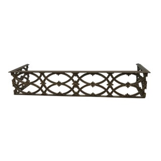 Antique Floral Fireplace Fender For Sale